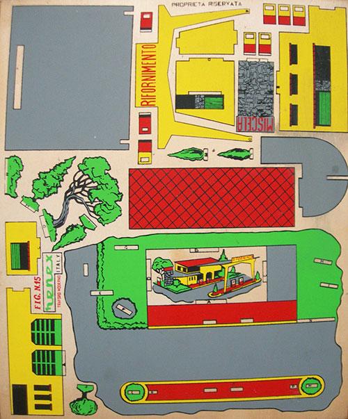 Ancien-jouet-maquette-bois-station-essence-vintage