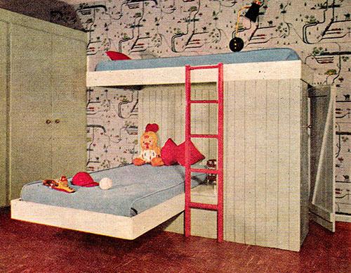 Chambre-enfant-lit-retro-vintage-kids-room-midmod-design-1955-rocket-lulu